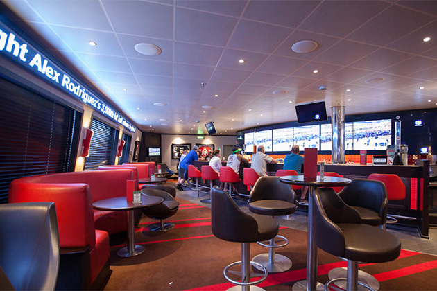 Carnival Sunshine sports bar