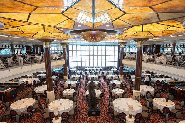 Aerial of cosmopolitan restaurant