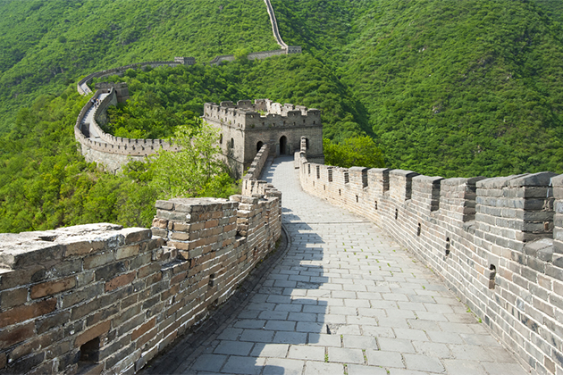 Great wall of china during summer months