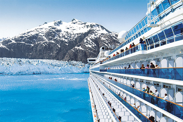 A Princess cruise ship approaches Margerie Glacier, Glacier Bay National Park