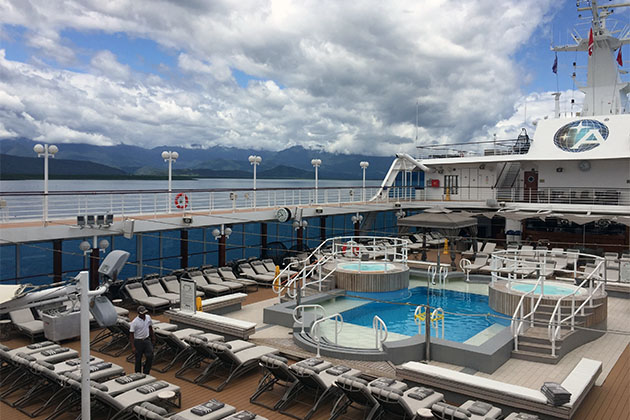 Azamara Quest Pool deck during the daytime