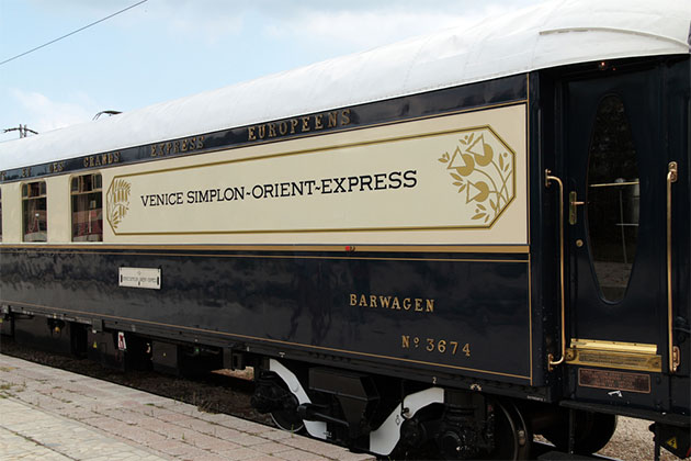 Exterior shot of Orient Express