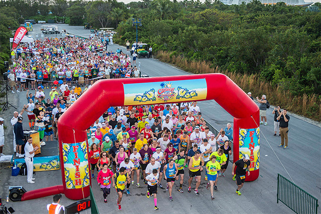 The finish line of Disney's Castaway Cay 5K