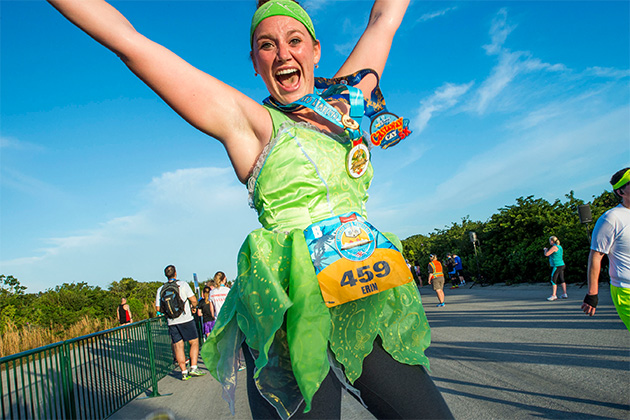 Happy runner in Disney's Castaway Cay 5K