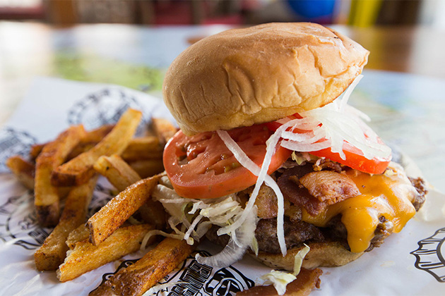 Burger and Fries on Carnival