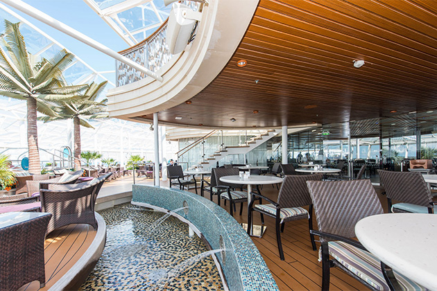 Solarium Cafe on Oasis of the Seas