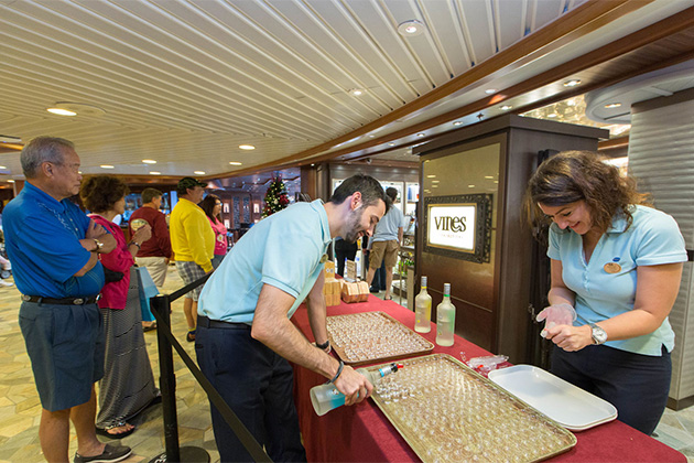 Drink samples on a Princess cruise