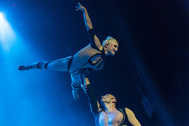 Aerialists Show on Norwegian Dawn
