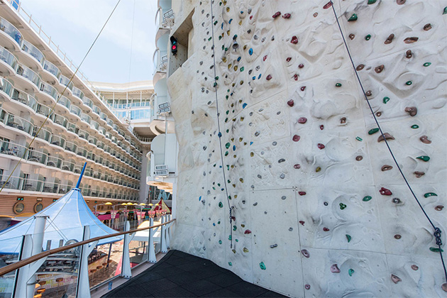 The Rock Wall on Oasis of the Seas