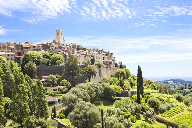 Panoramic shot of Sait Paul de Vence