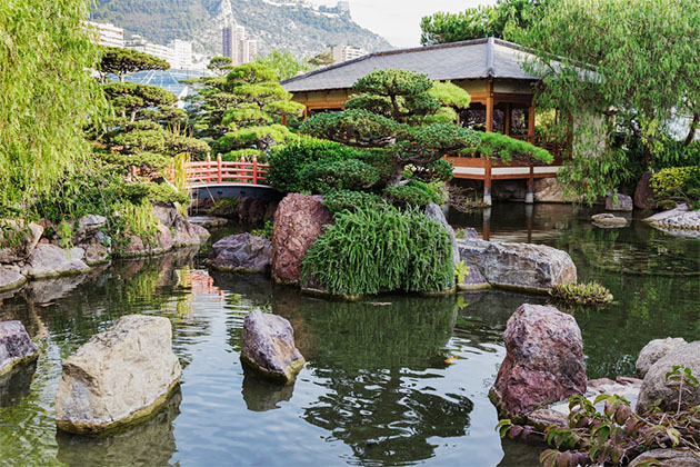 Japanese garden of monte carlo