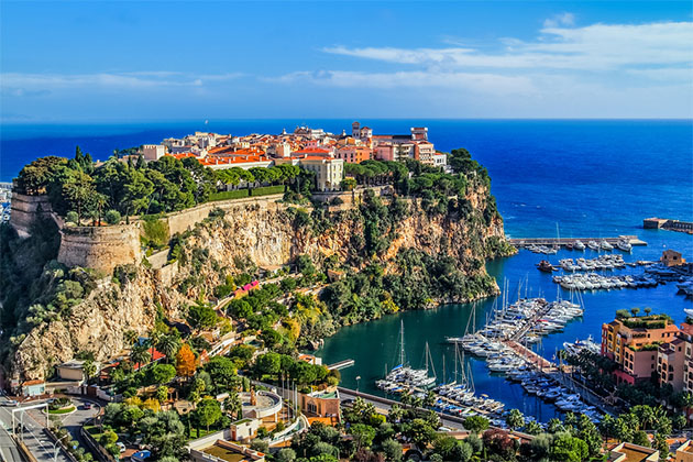 Aerial shot of Monte Carlo