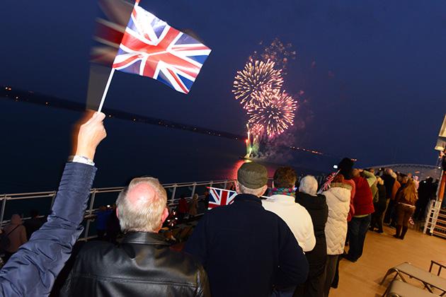 Britannia's maiden voyage