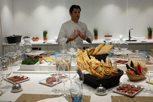 Chef Anthony Mauboussin in Viking's Kitchen Table