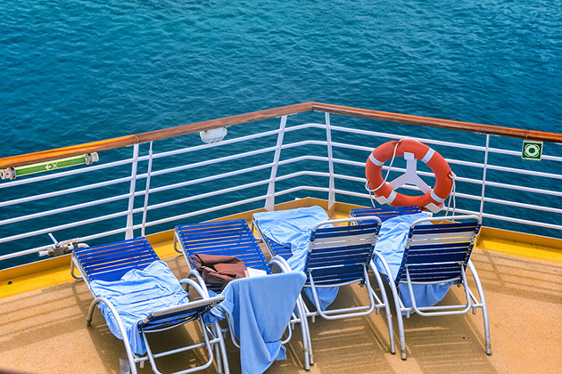 Towels on Cruise Deck Chairs