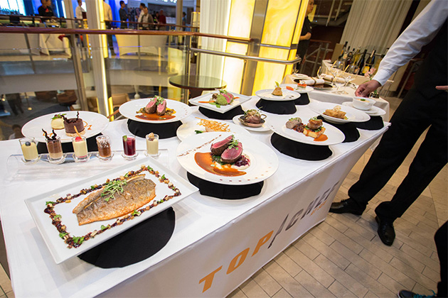 Top Chef display table