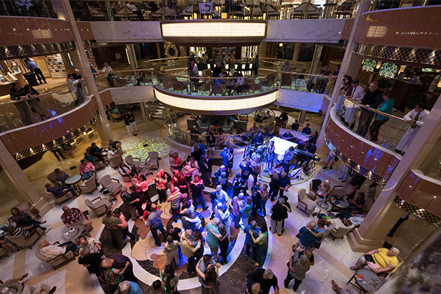 Atrium party on Regal Princess