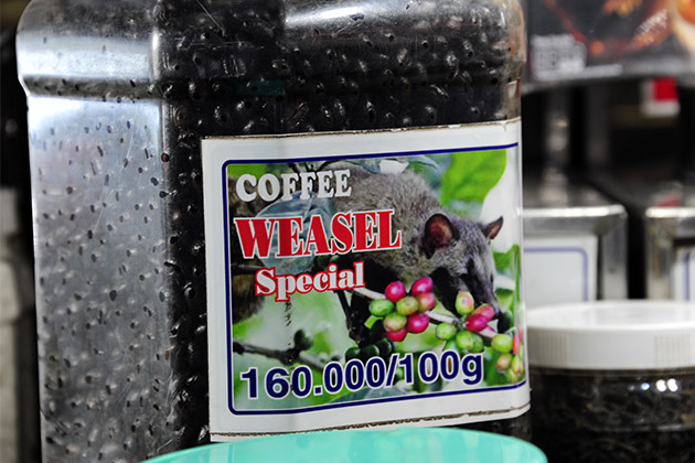 Bottle of Weasel coffee