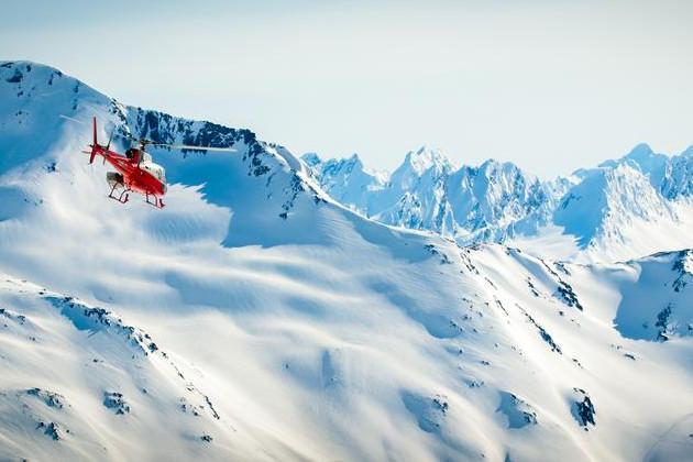 Helicopter over Alaska