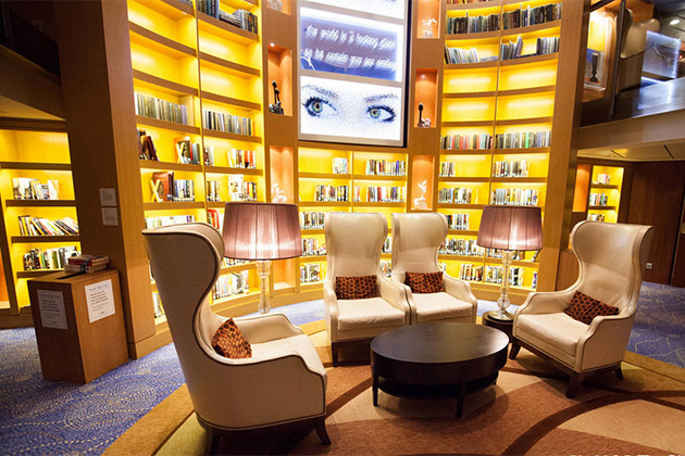 Library on Celebrity Reflection