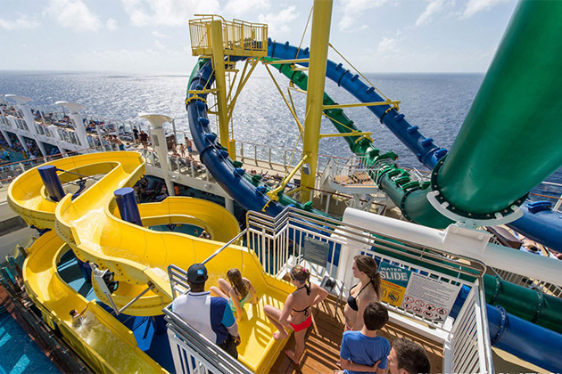 Norwegian Escape waterslides