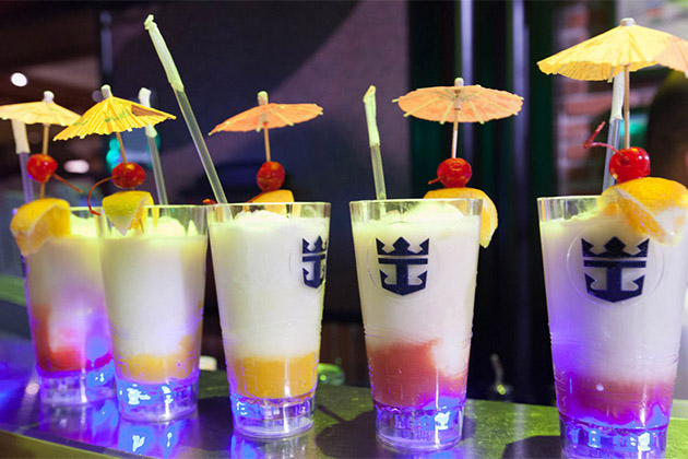 Royal Caribbean Royal Promenade drinks