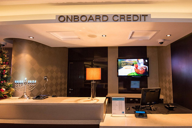 Onboard credit desk on Norwegian Breakaway
