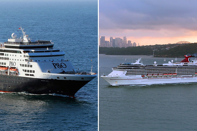 p amp o australia vs carnival cruise line australia   cruise
