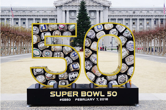 Sign for the NFL Super Bowl 50
