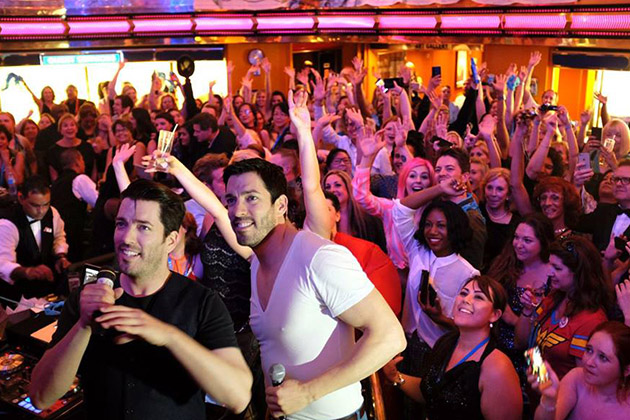 Property Brothers with fans on fan cruise
