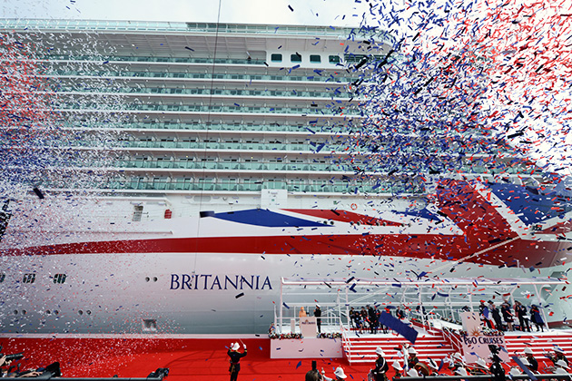 Britannia's naming ceremony