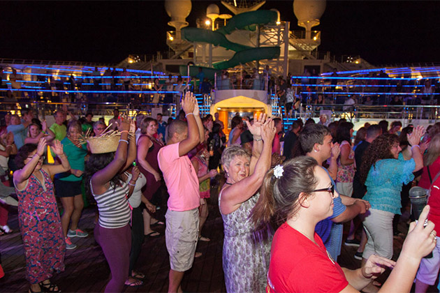 Lido Deck party on Carnival Conquest