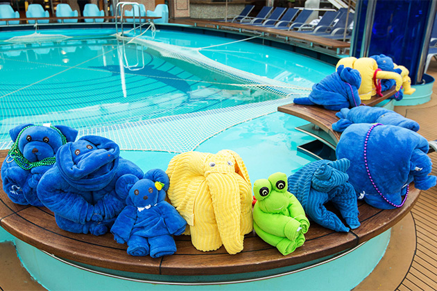 Towel Animal Creations on Carnival Dream