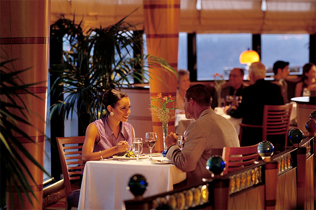 Romantic dinner at Palo on Disney Wonder