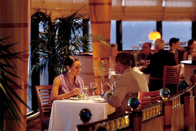 Romantic dinner at Palo on Disney Wonder