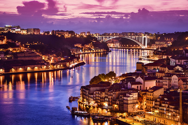 Porto, Portugal cityscape on the Douro River