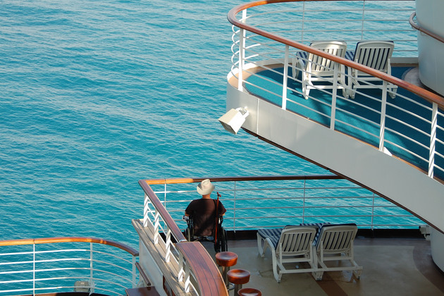 Disabled passenger on a cruise ship.