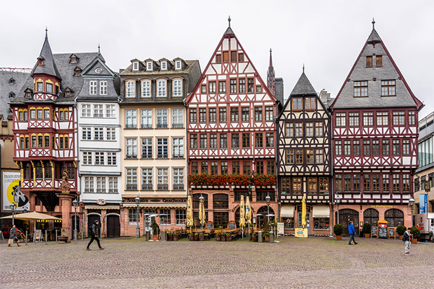 Street view of Frankfurt, Germany