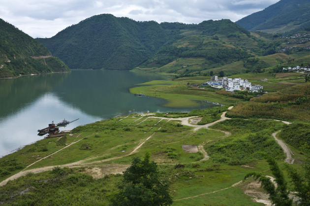 View of the Mekong River in China Yunnan province