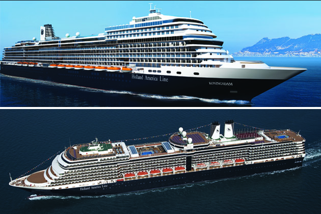 Composite of Nieuw Amsterdam and Koningsdam