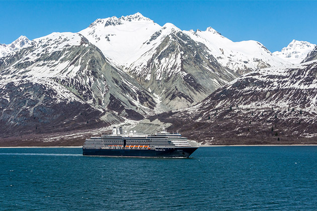 Holland America Line cruise ship in Alaska
