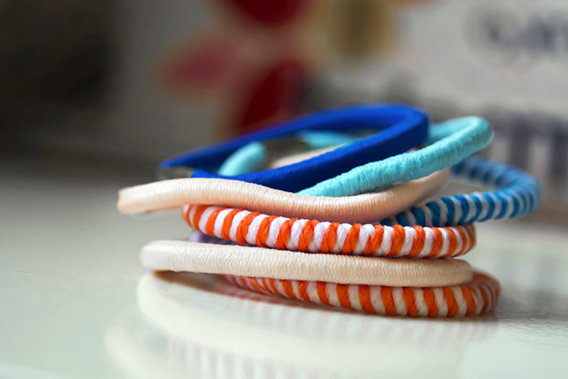 Colorful hair ties of different colors