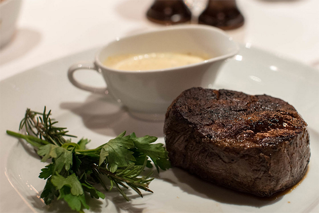 Steak Dinner at the Pinnacle Grill on Noordam