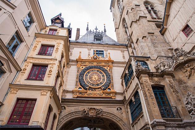 Clock in the Rue du Gros-Horloge, Rouen