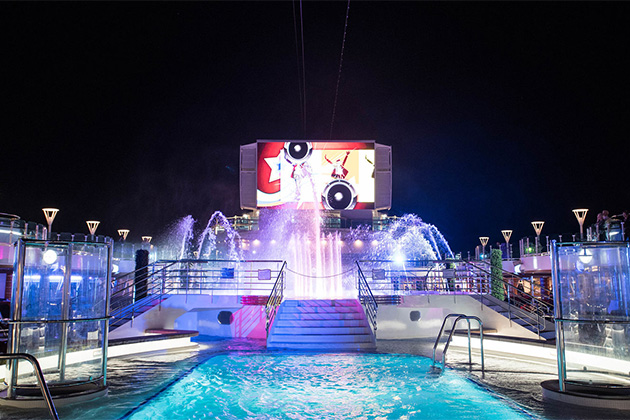 Movies Under The Stars on Regal Princess