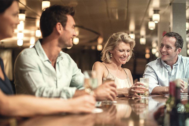 Passengers at the bar on a Marella cruise ship