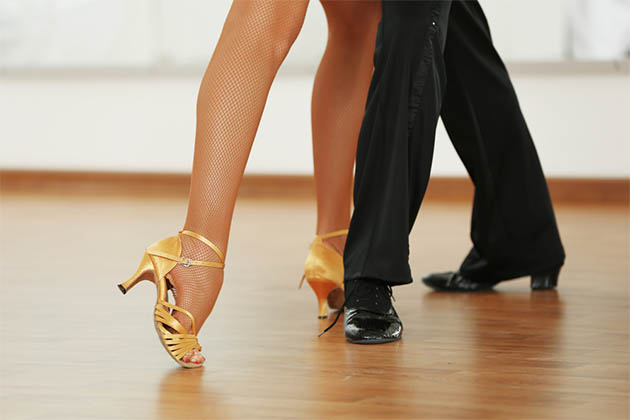 Male and female dance partners