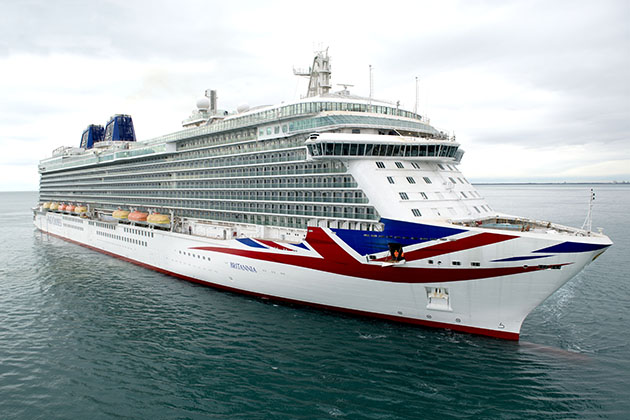 P&O Cruises' Britannia at sea