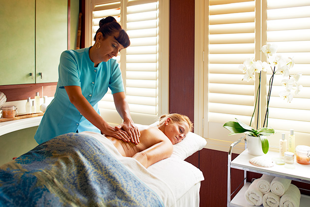 Spa treatment on a Windstar cruise