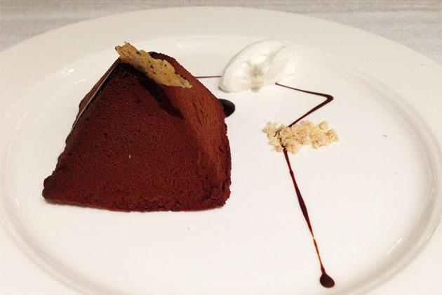Chocolate dessert from The Restaurant